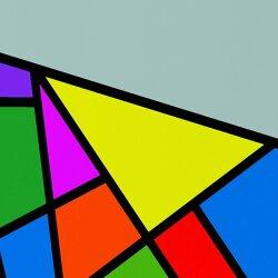 Wanduhr XXL 3D Optik Dixtime abstrakt Mosaik 30x90 cm hochkant leises Uhrwerk GL-002H