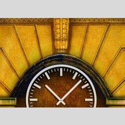 3833 Dixtime Designer Wanduhr, Wanduhren, Moderne Wohnraumuhr