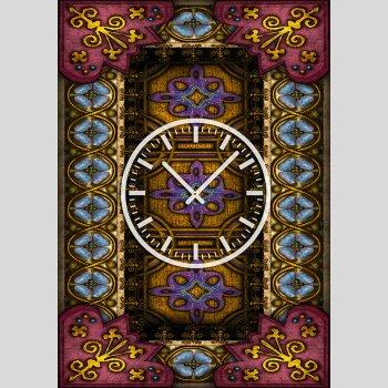 3834 Dixtime Designer Wanduhr, Wanduhren, Moderne Wohnraumuhr  35cm x 50cm
