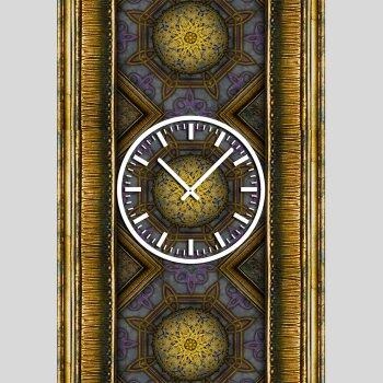 3836 Dixtime Designer Wanduhr, Wanduhren, Moderne Wohnraumuhr  35cm x 50cm
