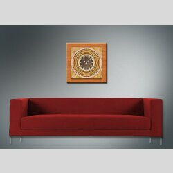 3837 Dixtime Designer Wanduhr, Wanduhren, Moderne Wohnraumuhr  50cm x 50cm