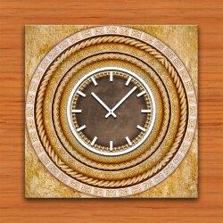 3837 Dixtime Designer Wanduhr, Wanduhren, Moderne Wohnraumuhr  30cm x 30cm
