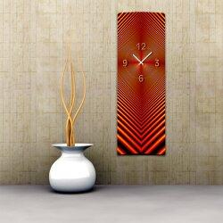 Wanduhr XXL 3D Optik Dixtime abstrakt rot 30x90 cm...