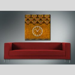 3838 Dixtime Designer Wanduhr, Wanduhren, Moderne Wohnraumuhr  70cm x 70cm