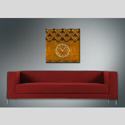 3838 Dixtime Designer Wanduhr, Wanduhren, Moderne Wohnraumuhr  50cm x 50cm