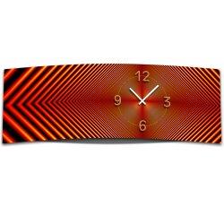 Wanduhr XXL 3D Optik Dixtime abstrakt rot 30x90 cm leises...