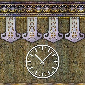 3839 Dixtime Designer Wanduhr, Wanduhren, Moderne Wohnraumuhr