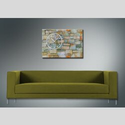 3841 Dixtime Designer Wanduhr, Wanduhren, Moderne Wohnraumuhr  50cm x 70cm