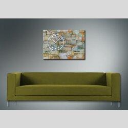 3841 Dixtime Designer Wanduhr, Wanduhren, Moderne Wohnraumuhr  35cm x 50cm