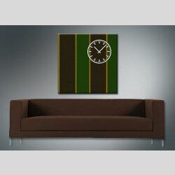 3842 Dixtime Designer Wanduhr, Wanduhren, Moderne Wohnraumuhr  50cm x 50cm