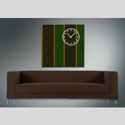 3842 Dixtime Designer Wanduhr, Wanduhren, Moderne Wohnraumuhr  40cm x 40cm