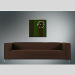 3842 Dixtime Designer Wanduhr, Wanduhren, Moderne Wohnraumuhr  30cm x 30cm