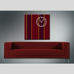 3843 Dixtime Designer Wanduhr, Wanduhren, Moderne Wohnraumuhr  40cm x 40cm