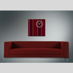 3843 Dixtime Designer Wanduhr, Wanduhren, Moderne Wohnraumuhr  30cm x 30cm