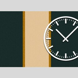 3844 Dixtime Designer Wanduhr, Wanduhren, Moderne Wohnraumuhr  40cm x 40cm