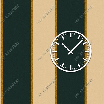 3844 Dixtime Designer Wanduhr, Wanduhren, Moderne Wohnraumuhr  30cm x 30cm