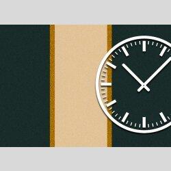 3844 Dixtime Designer Wanduhr, Wanduhren, Moderne Wohnraumuhr