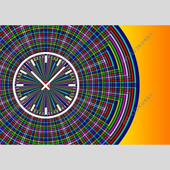 3847 Dixtime Designer Wanduhr, Wanduhren, Moderne Bürouhr