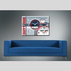 3850 Dixtime Designer Wanduhr, Wanduhren, Moderne Bürouhr  35cm x 50cm