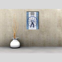 3856 Dixtime Designer Wanduhr, Wanduhren, Moderne Wohnraumuhr  35cm x 50cm