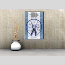 3856 Dixtime Designer Wanduhr, Wanduhren, Moderne Wohnraumuhr
