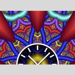 3864 Dixtime Designer Wanduhr, Wanduhren, Moderne Wohnraumuhr