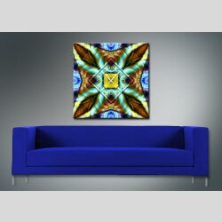 3866 Dixtime Designer Wanduhr, Wanduhren, Moderne Wohnraumuhr  30cm x 30cm