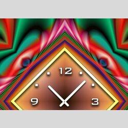3870 Dixtime Designer Wanduhr, Wanduhren, Moderne Wohnraumuhr  70cm x 70cm