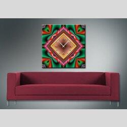 3870 Dixtime Designer Wanduhr, Wanduhren, Moderne Wohnraumuhr  50cm x 50cm