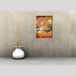 3871 Dixtime Designer Wanduhr, Wanduhren, Bürouhr  35cm x 50cm