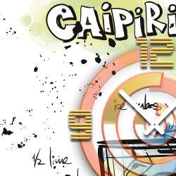 Wanduhr XXL 3D Optik Dixtime Cocktail Caipirinha 50x50 cm leises Uhrwerk GQ-028