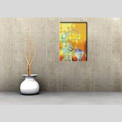 3882 Dixtime Designer Wanduhr, Wanduhren, Moderne Wohnraumuhr