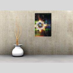3884 Dixtime Designer Wanduhr, Wanduhren, Moderne Wohnraumuhr