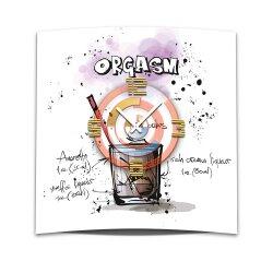 Wanduhr XXL 3D Optik Dixtime Cocktail Orgasm 50x50 cm...