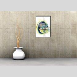 3988 Dixtime Designer Wanduhr, Wanduhren, Moderne Wohnraumuhr  50cm x 70cm