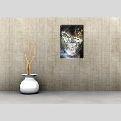 3890 Dixtime Designer Wanduhr, Wanduhren, Moderne Wohnraumuhr  70cm x 100cm