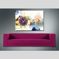 3896 Dixtime Designer Wanduhr, Wanduhren, Moderne Wohnraumuhr  35cm x 50cm