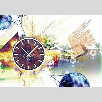 3896 Dixtime Designer Wanduhr, Wanduhren, Moderne Wohnraumuhr
