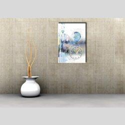 3897 Dixtime Designer Wanduhr, Wanduhren, Moderne Wohnraumuhr  70cm x 100cm