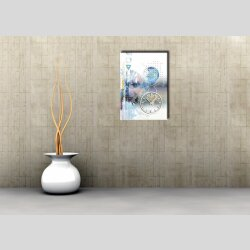 3897 Dixtime Designer Wanduhr, Wanduhren, Moderne Wohnraumuhr  50cm x 70cm