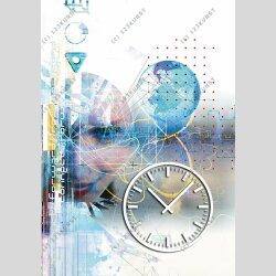 3897 Dixtime Designer Wanduhr, Wanduhren, Moderne...