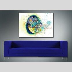 3930 Dixtime Designer Wanduhr, Wanduhren, Moderne Wohnraumuhr  70cm x 100cm