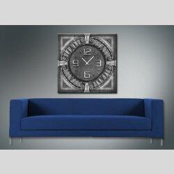 3962 Dixtime Designer Wanduhr, Wanduhren, Moderne Wohnraumuhr  50cm x 50cm