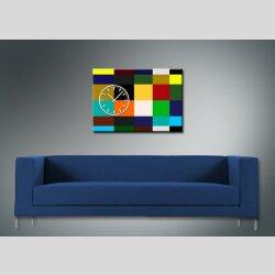 3970 Dixtime Designer Wanduhr, Wanduhren, Moderne Wohnraumuhr  35cm x 50cm