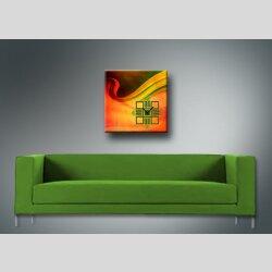 3994 Dixtime Designer Wanduhr, Wanduhren, Bürouhr  50cm x 50cm