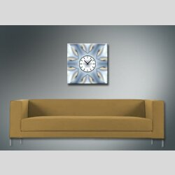 4070 Dixtime Designer Wanduhr, Wanduhren, Moderne Wohnraumuhr  70cm x 70cm