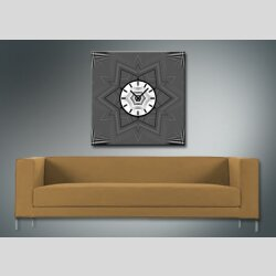 4071 Dixtime Designer Wanduhr, Wanduhren, Moderne Wohnraumuhr  90cm x 90cm
