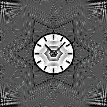 4071 Dixtime Designer Wanduhr, Wanduhren, Moderne Wohnraumuhr  70cm x 70cm