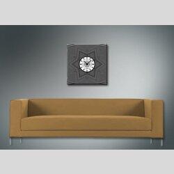 4071 Dixtime Designer Wanduhr, Wanduhren, Moderne Wohnraumuhr  40cm x 40cm