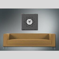 4071 Dixtime Designer Wanduhr, Wanduhren, Moderne Wohnraumuhr  30cm x 30cm